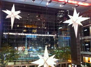 View from the 2nd floor balcony of the Time Warner Center